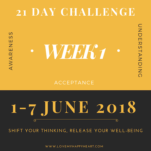21 Day Challenge – Week 1