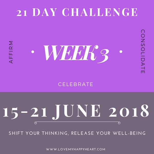 21 Day Challenge – Week 3